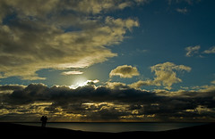 Watching the sun go down! (Susan SRS) Tags: uk november winter sunset england cloud silhouette clouds canon sussex gb sevensisters cloudscape goldenhour nwn daysend img7839 platinumphoto