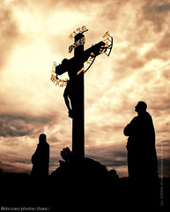 The Crucifix and Calvary (#109) (Christopher Chan) Tags: travel canon europe christ prague jesus praha crucifix czechrepublic 1785mm charlesbridge calvary 1k 30d i500 superaplus aplusphoto