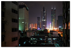 downtown SZ (staffh) Tags: china city urban building tower skyline architecture facade skyscraper square skyscrapers towers wide wideangle staff guangdong shenzhen metropolis tall  hing density shun urbanity shunhingsquare superhearts