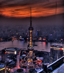 CHINA - Shanghai - The End of the World on Pearl tower (Franck -  - ) Tags: china longexposure fiction red tower night river gold lights bravo shanghai bladerunner hell apocalypse science winner scifi pearl   pudong  coolest soe  endoftheworld huangpu     waitan  blueribbonwinner  armaggedon instantfave flickrsbest   anawesomeshot impressedbeauty 200750plusfaves diamondclassphotographer flickrdiamond frhwofavs flickrelite