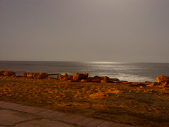 Beach of Agia Napa by night