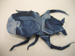 Goliath Horned Flower Beetle (PhillipWest) Tags: origami paperfolding papiroflexia