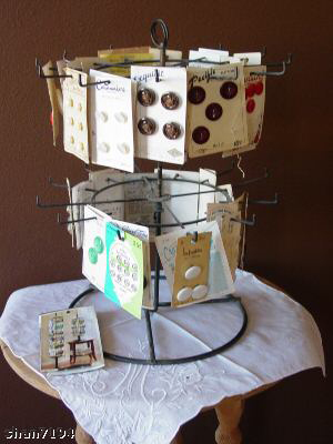 vintage button rack