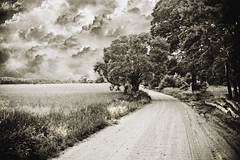 Old road (dawidr) Tags: old sky sepia countryside vilage supershot abigfave excellentphotographerawards