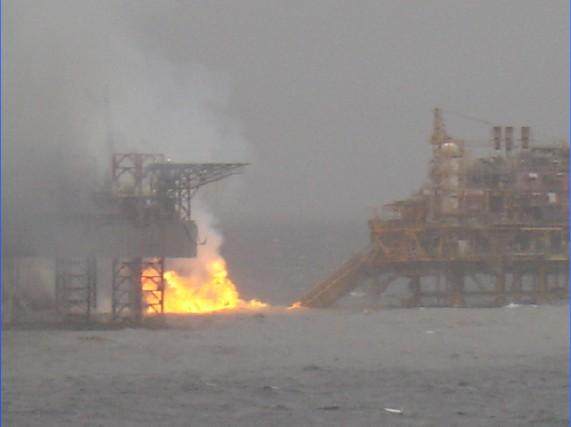 Mumbai (Bombay) High North Platform Fire - Oil Rig Disasters