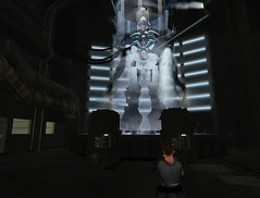 Picture of a frozen Megatron in the Transformers Movie Sim in Second Life 'Sector 7'