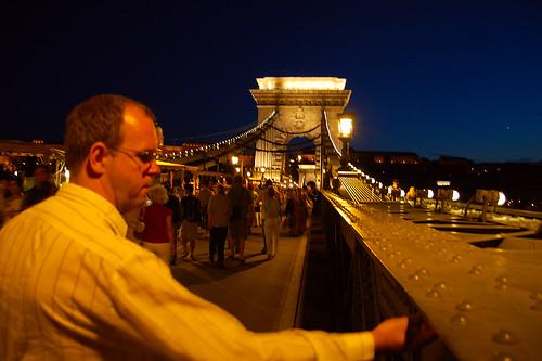 Kalle on Chain bridge