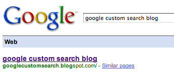 Google Custom Search Blog