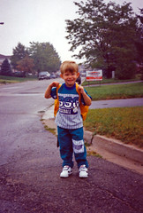 First day of school (Rock Steady Images) Tags: school ontario ryan son scan busstop firstday 1994 sons alliston bypaulchambers rocksteadyimages