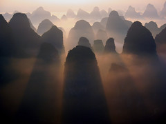 China (M00k) Tags: china mountains landscape dawn yangshuo yunnan karstgebergte dageraad breakofday