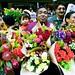 Cape Malay flower vendor offers