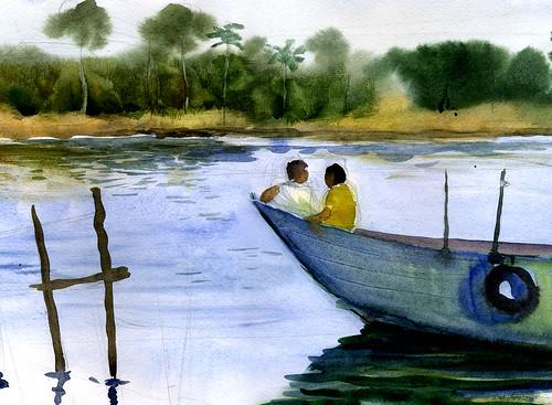 мальчики на лодке