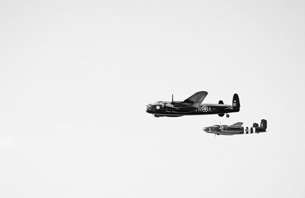 Avro Lancaster Bomber & B-25 by PEEJ0E