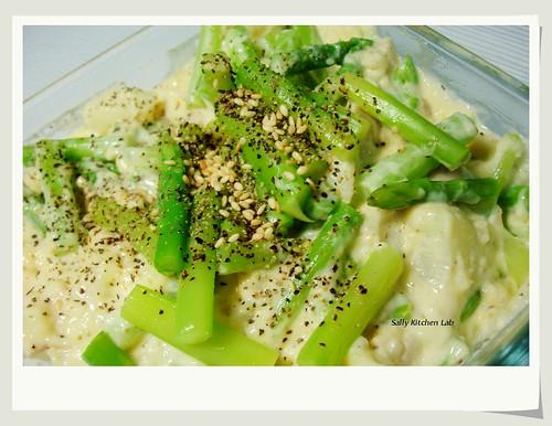 馬鈴薯蘆筍沙拉  potato salad with asparagus