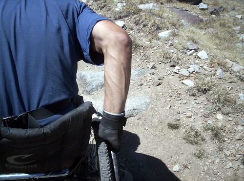 4WheelBob Coomber climbs Mt. White in a wheelchair