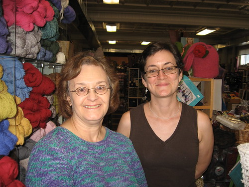 Knitting Maven Kathy Zimmerman and Babs!