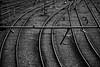 鉄路 (Bernat Nacente Foto) Tags: barcelona railroad bw white black tren blanc negre vies 白黒 バルセロナ 鉄路 nohdr isawyoufirst