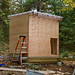 Chicken House: front door just roughed out