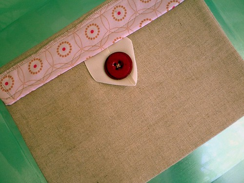 Handmade Linen Clutch by Mosey