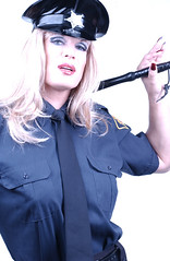 Police girl (Kathryn J. Parker) Tags: drag tv glamour cd crossdressing queen tgirl transgender kathryn tranny transvestite trans dragqueen diva crossdresser crossdress transe transvestit