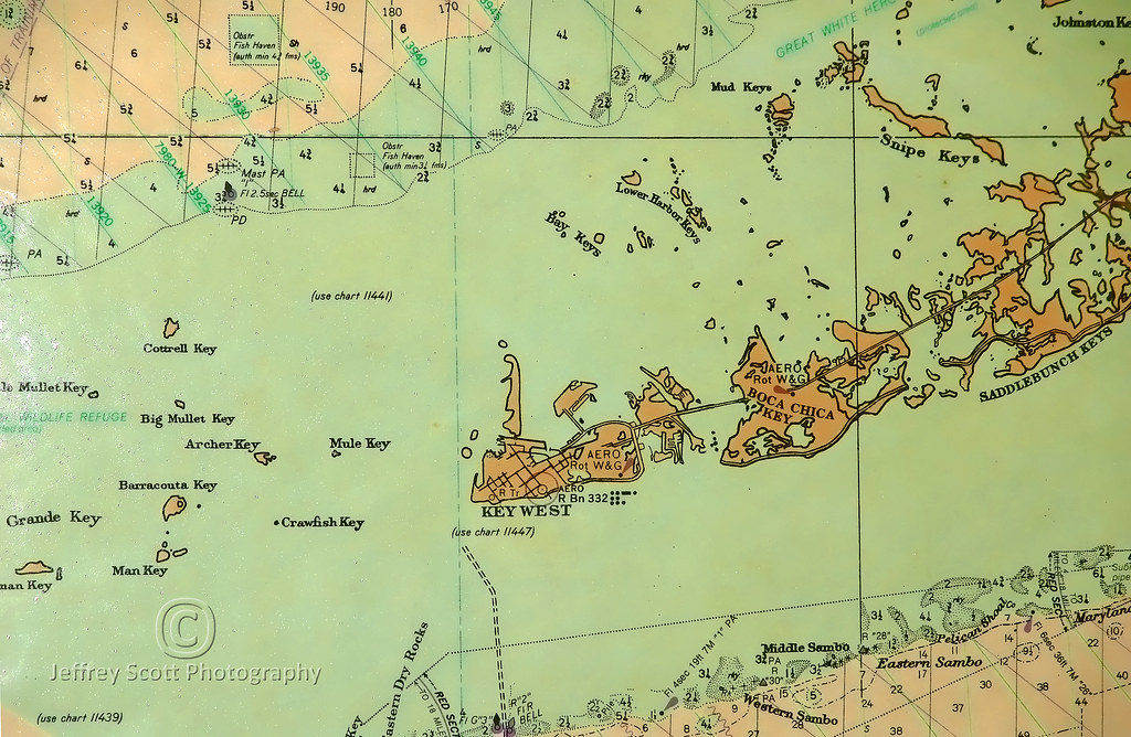 OLD map of the Florida Keys