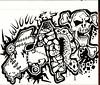tamehammer (tameblue) Tags: skull graffiti sketch crazy drawing tag doodle horror marker graff tame blackbook sketched tameblue