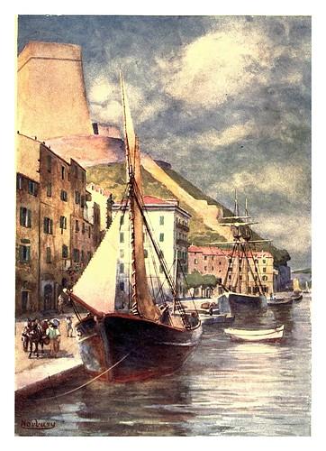 017- El puerto de Bonifacio-Corsica-1909-Edwin A. Norbury