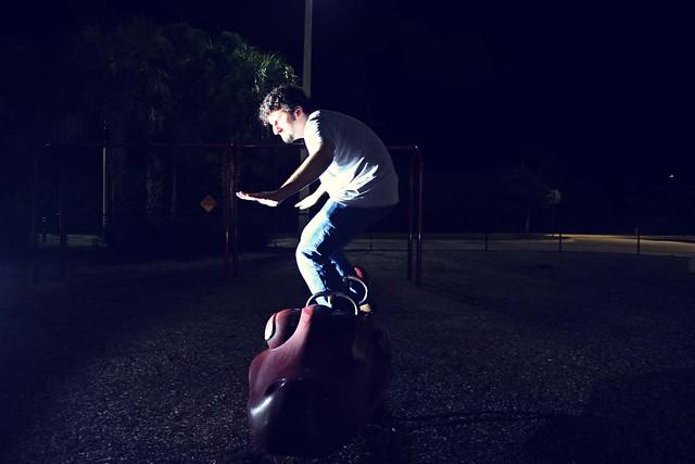 dinosaur surfing