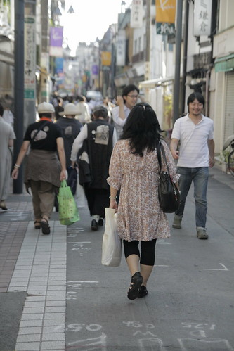 Mum walking through the streets of Kamakura