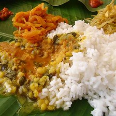 Some of the best Indian food came on a banana leaf and you ate it with your fingers...