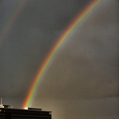 Rainbow hits brainstorming bureau (Frizztext) Tags: sky regenboog square interestingness rainbow explore galleries brainstorm arcoris arcobaleno dictionary iconography regenbogen 2007 arcenciel babel 500x500 july6 blueribbonwinner supershot  worpress flickrsbest frizztext colorphotoaward ultimateshot superbmasterpiece  200776