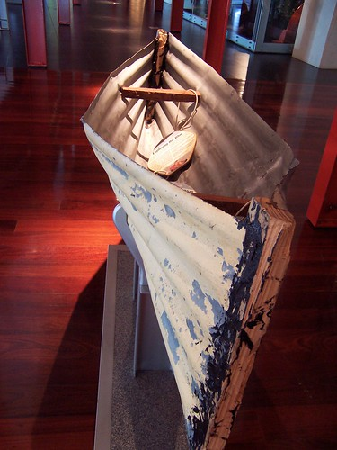 Homemade kayak Maritime Museum Fremantle Western Australia
