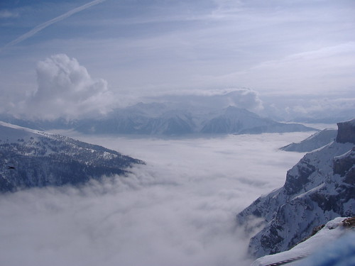 Mer de brouillars, du haut de GemmiPass