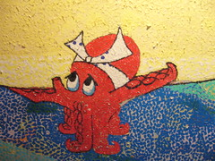 Sushi bar ki-mama, wall painting (Close-up)