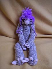 Lop rabbit with cap (Crucifix Kiss) Tags: rabbit bunny art hat crafts crochet yarn cap stuffedanimals amigurumi crocheted crocheting