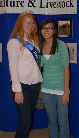 Nevada State Fair Princess Melissa and talented friend Lauren