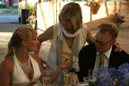 mom talks to newlyweds