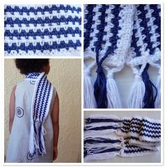 a jagged stripes scarf