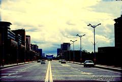 Silent Roadway. (NHS;) Tags: sunset building bus cars clouds evening silent putrajaya roadway headoffices lamplights