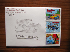 Comic stamps to the Czech Republic