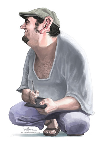 digital caricature of Jaume Cullell