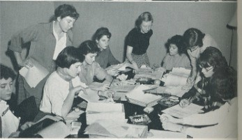 The 1951 Misc. Staff hard at work.