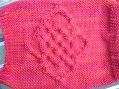 Celtic Critter Cardigan back swatch