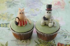 Moomin cupcakes