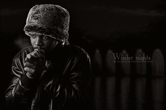Winter nights (Sultan alSultan ) Tags: winter man black photo nights         imeg