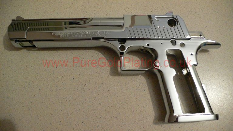 Chrome Plated .357 Magnum Desert Eagle