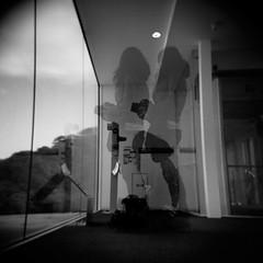 shoot (t.a.p masa) Tags: bw film silhouette toy holga doubleexposure snap multipleexposure tx400 selfdeveloper holga120gtlr magicsquarepoetry