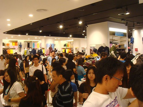 Crowds At Uniqlo