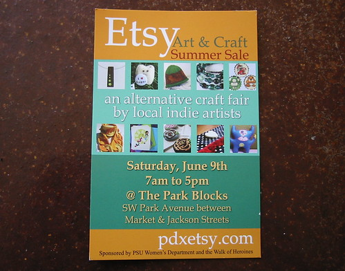 PDX Etsy sale this weekend