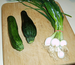 zucchini and scallions